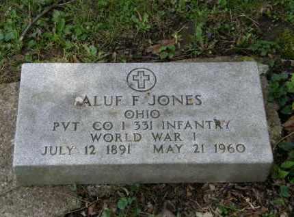 JONES, ALUF F. - Marion County, Ohio   ALUF F. JONES - Ohio Gravestone Photos