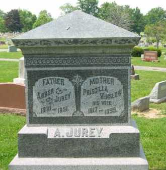 JUREY, ABNER - Marion County, Ohio   ABNER JUREY - Ohio Gravestone Photos
