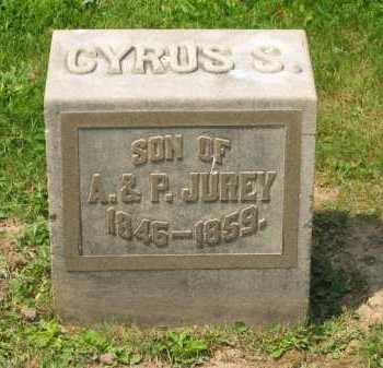 JUREY, CYRUS S - Marion County, Ohio | CYRUS S JUREY - Ohio Gravestone Photos