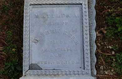 KERR, MATILDA A. - Marion County, Ohio | MATILDA A. KERR - Ohio Gravestone Photos