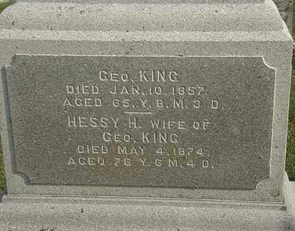 KING, GEO. - Marion County, Ohio   GEO. KING - Ohio Gravestone Photos