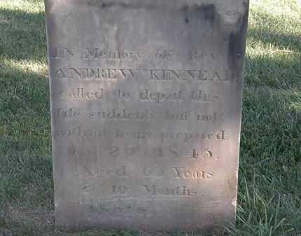 KINNEAR, REV. ANDREW - Marion County, Ohio | REV. ANDREW KINNEAR - Ohio Gravestone Photos