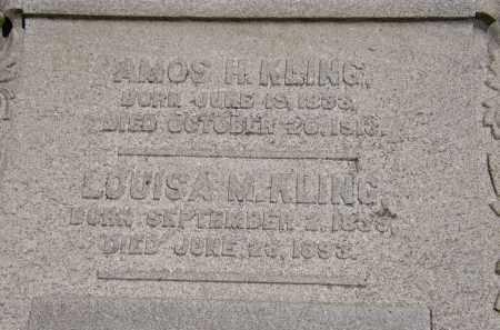 KLING, AMOS H. - Marion County, Ohio | AMOS H. KLING - Ohio Gravestone Photos