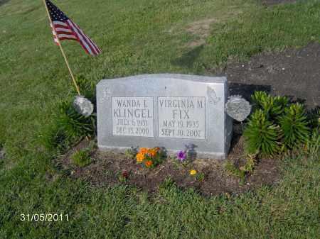 FIX, VIRGINIA M - Marion County, Ohio | VIRGINIA M FIX - Ohio Gravestone Photos