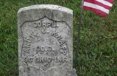KNAPP, ANDW. J. - Marion County, Ohio | ANDW. J. KNAPP - Ohio Gravestone Photos