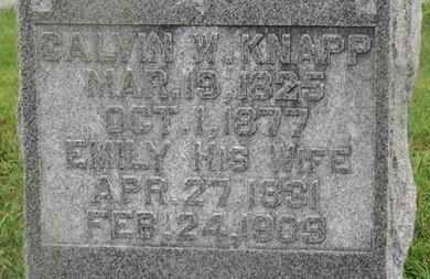 KNAPP, EMILY - Marion County, Ohio | EMILY KNAPP - Ohio Gravestone Photos
