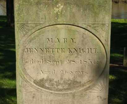 KNIGHT, MARY JENNETTE - Marion County, Ohio | MARY JENNETTE KNIGHT - Ohio Gravestone Photos