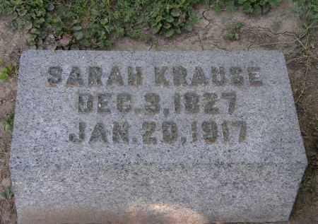 KRAUSE, SARAH - Marion County, Ohio | SARAH KRAUSE - Ohio Gravestone Photos