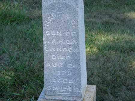 LANDON, H.A. - Marion County, Ohio   H.A. LANDON - Ohio Gravestone Photos