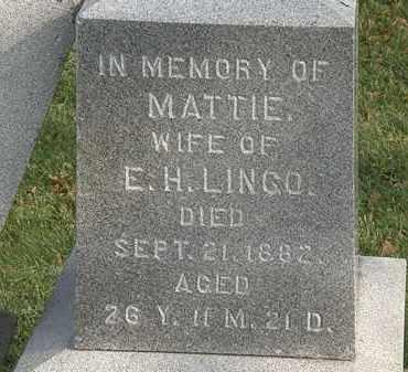 LINGO, E. H. - Marion County, Ohio | E. H. LINGO - Ohio Gravestone Photos