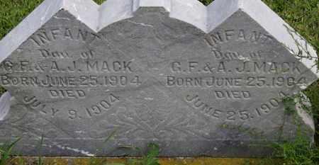MACK, INFANT DAU. - Marion County, Ohio | INFANT DAU. MACK - Ohio Gravestone Photos