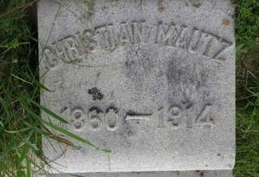 MAUTZ, CHRISTIAN - Marion County, Ohio | CHRISTIAN MAUTZ - Ohio Gravestone Photos