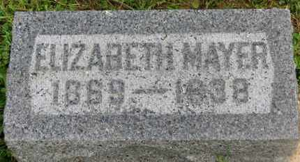 MAYER, ELIZABETH - Marion County, Ohio | ELIZABETH MAYER - Ohio Gravestone Photos