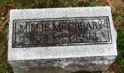 MCCREARY, MILLIE - Marion County, Ohio   MILLIE MCCREARY - Ohio Gravestone Photos
