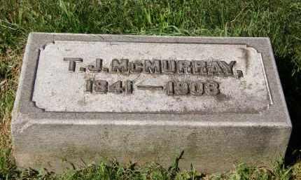 MCMURRAY, T. J. - Marion County, Ohio   T. J. MCMURRAY - Ohio Gravestone Photos