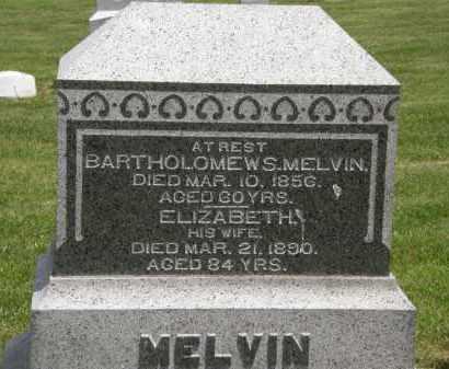 MELVIN, BARTHOLOMEW S. - Marion County, Ohio | BARTHOLOMEW S. MELVIN - Ohio Gravestone Photos