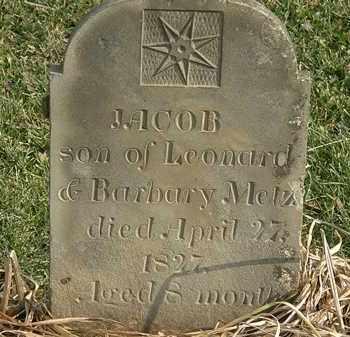 METZ, JACOB - Marion County, Ohio   JACOB METZ - Ohio Gravestone Photos