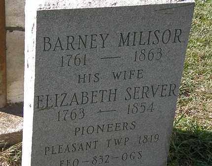 SERVER MILISOR, ELIZABETH - Marion County, Ohio | ELIZABETH SERVER MILISOR - Ohio Gravestone Photos