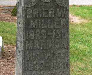 MILLER, BRIER W. - Marion County, Ohio | BRIER W. MILLER - Ohio Gravestone Photos