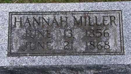 MILLER, HANNAH - Marion County, Ohio   HANNAH MILLER - Ohio Gravestone Photos