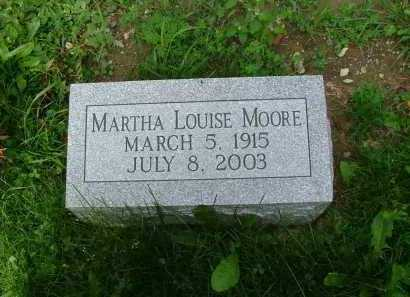 MOORE, MARTHA LOUISE - Marion County, Ohio | MARTHA LOUISE MOORE - Ohio Gravestone Photos