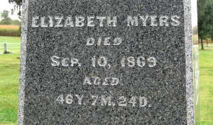MYERS, ELIZABETH - Marion County, Ohio | ELIZABETH MYERS - Ohio Gravestone Photos