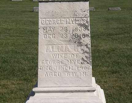 MYERS, ALMA R. - Marion County, Ohio | ALMA R. MYERS - Ohio Gravestone Photos