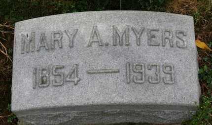 MYERS, MARY A. - Marion County, Ohio | MARY A. MYERS - Ohio Gravestone Photos