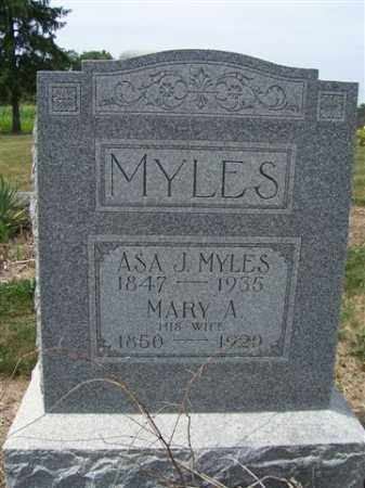MYLES, MARY - Marion County, Ohio | MARY MYLES - Ohio Gravestone Photos