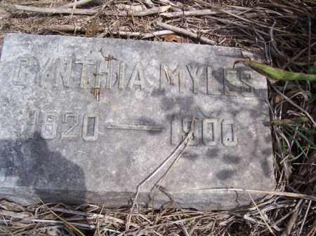 MYLES, CYNTHIA - Marion County, Ohio   CYNTHIA MYLES - Ohio Gravestone Photos