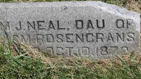 ROSENCRANS NEAL, M.J. - Marion County, Ohio | M.J. ROSENCRANS NEAL - Ohio Gravestone Photos