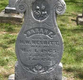 NESBITT, SARAH E. - Marion County, Ohio | SARAH E. NESBITT - Ohio Gravestone Photos