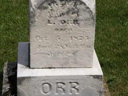 ORR, L. - Marion County, Ohio   L. ORR - Ohio Gravestone Photos
