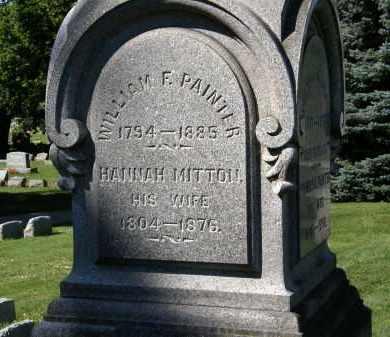 MITTON PAINTER, HANNAH - Marion County, Ohio   HANNAH MITTON PAINTER - Ohio Gravestone Photos