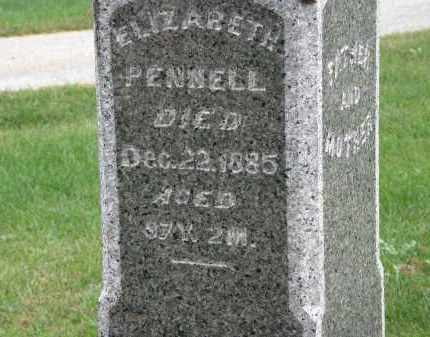 PENNELL, ELIZABETH - Marion County, Ohio   ELIZABETH PENNELL - Ohio Gravestone Photos