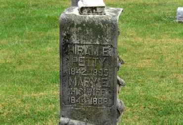 PETTY, MARY E. - Marion County, Ohio | MARY E. PETTY - Ohio Gravestone Photos