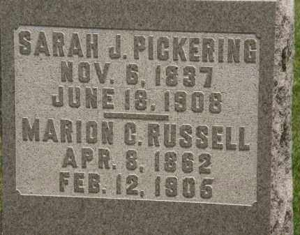 RUSSELL, MARION C. - Marion County, Ohio | MARION C. RUSSELL - Ohio Gravestone Photos
