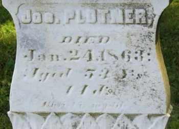 PLOTNER, JOS. - Marion County, Ohio | JOS. PLOTNER - Ohio Gravestone Photos