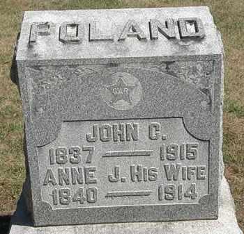 POLAND, JOHN C. - Marion County, Ohio   JOHN C. POLAND - Ohio Gravestone Photos
