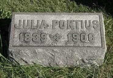 PONTIUS, JULIA - Marion County, Ohio | JULIA PONTIUS - Ohio Gravestone Photos