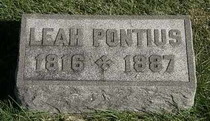 PONTIUS, LEAH - Marion County, Ohio | LEAH PONTIUS - Ohio Gravestone Photos