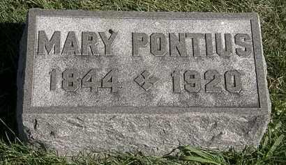 PONTIUS, MARY - Marion County, Ohio | MARY PONTIUS - Ohio Gravestone Photos