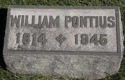 PONTIUS, WILLIAM - Marion County, Ohio | WILLIAM PONTIUS - Ohio Gravestone Photos