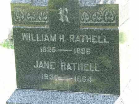 RATHELL, JANE - Marion County, Ohio | JANE RATHELL - Ohio Gravestone Photos