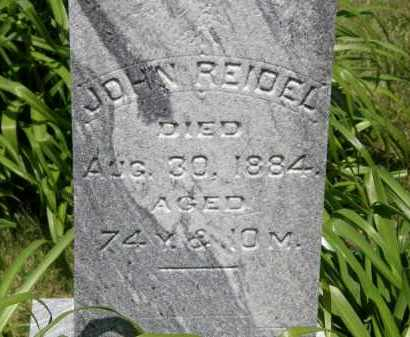 REIDEL, JOHN - Marion County, Ohio | JOHN REIDEL - Ohio Gravestone Photos