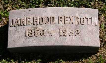 HOOD REXROTH, JANE - Marion County, Ohio | JANE HOOD REXROTH - Ohio Gravestone Photos