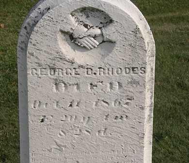 RHODES, GEORGE B. - Marion County, Ohio | GEORGE B. RHODES - Ohio Gravestone Photos