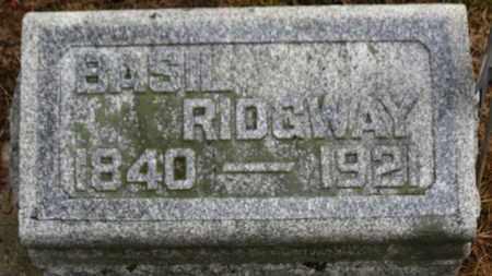 RIDGWAY, BASIL - Marion County, Ohio | BASIL RIDGWAY - Ohio Gravestone Photos