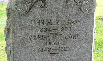 RIDGWAY, MARGARET JANE - Marion County, Ohio | MARGARET JANE RIDGWAY - Ohio Gravestone Photos