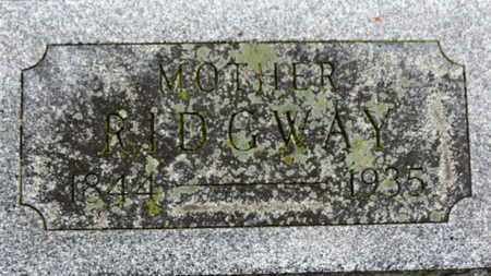 RIDGWAY, MOTHER (ROSEANNE) - Marion County, Ohio | MOTHER (ROSEANNE) RIDGWAY - Ohio Gravestone Photos